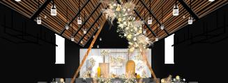 《Finest hour》-黄室内唯美婚礼照片