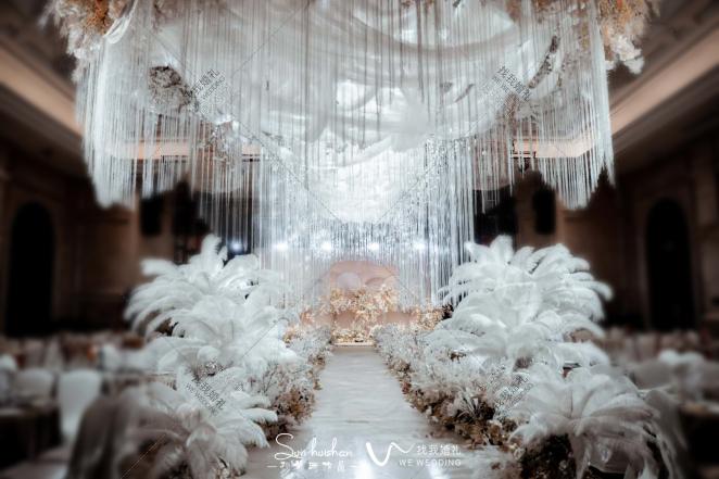 奢宠如初-黄室内韩式婚礼照片