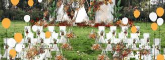 秋日温柔-白草坪简洁婚礼照片