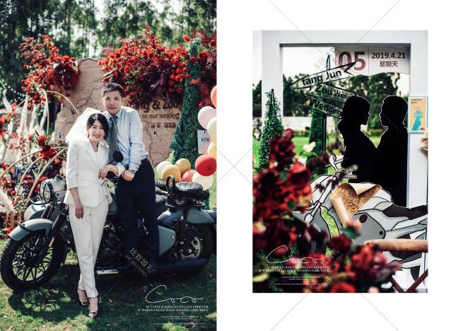 摩·侣-红草坪主题婚礼照片