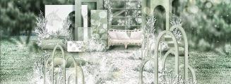 斑斓-白户外简洁婚礼照片