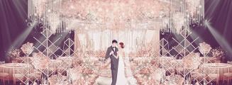 五分甜-白室内大气婚礼照片