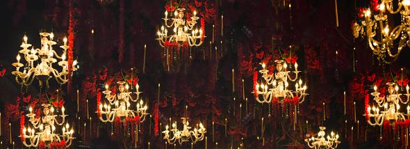 香格里拉绵阳厅晚宴-美女与野兽婚礼图片