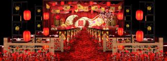 《花堂》-红室内新中式婚礼照片