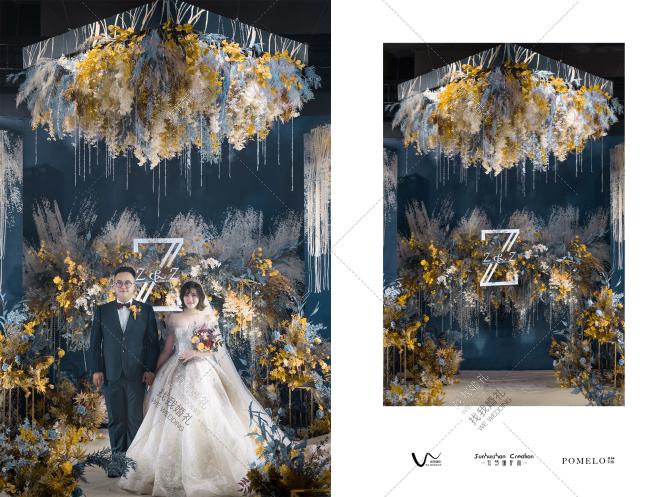 Z&Z-黄室内西式婚礼照片