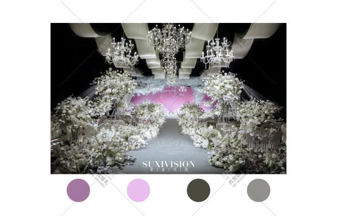 韩式-灰室内韩式婚礼照片