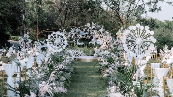 庆隆.南山高尔夫球会-粉户外简洁婚礼照片