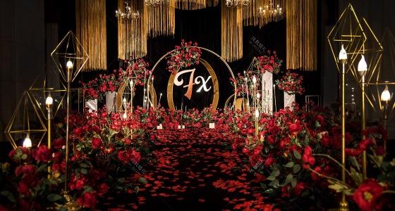 #黑·红调#-婚礼策划图片