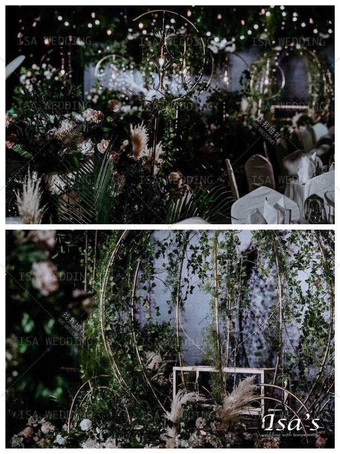 精灵-黑室内小清新婚礼照片