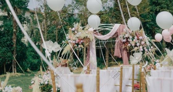 清新户外婚礼-婚礼策划图片
