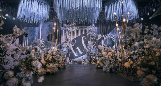 蓝灰-婚礼策划图片