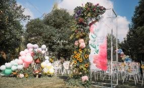 武侯区石羊场街道老房子华粹元年食府(天府三街店)大源中央公园-colourful days婚礼图片