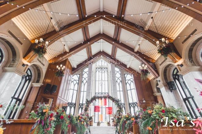 爱的方程式-红室内复古婚礼照片