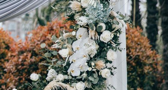 日系元素户外草坪婚礼-婚礼策划图片