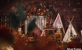 独一处(桃苑店)-焦糖的气息婚礼图片