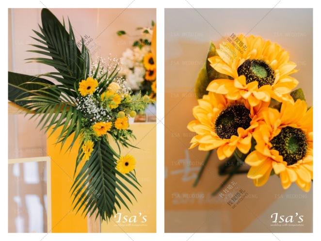Sunshine-绿室内森系婚礼照片