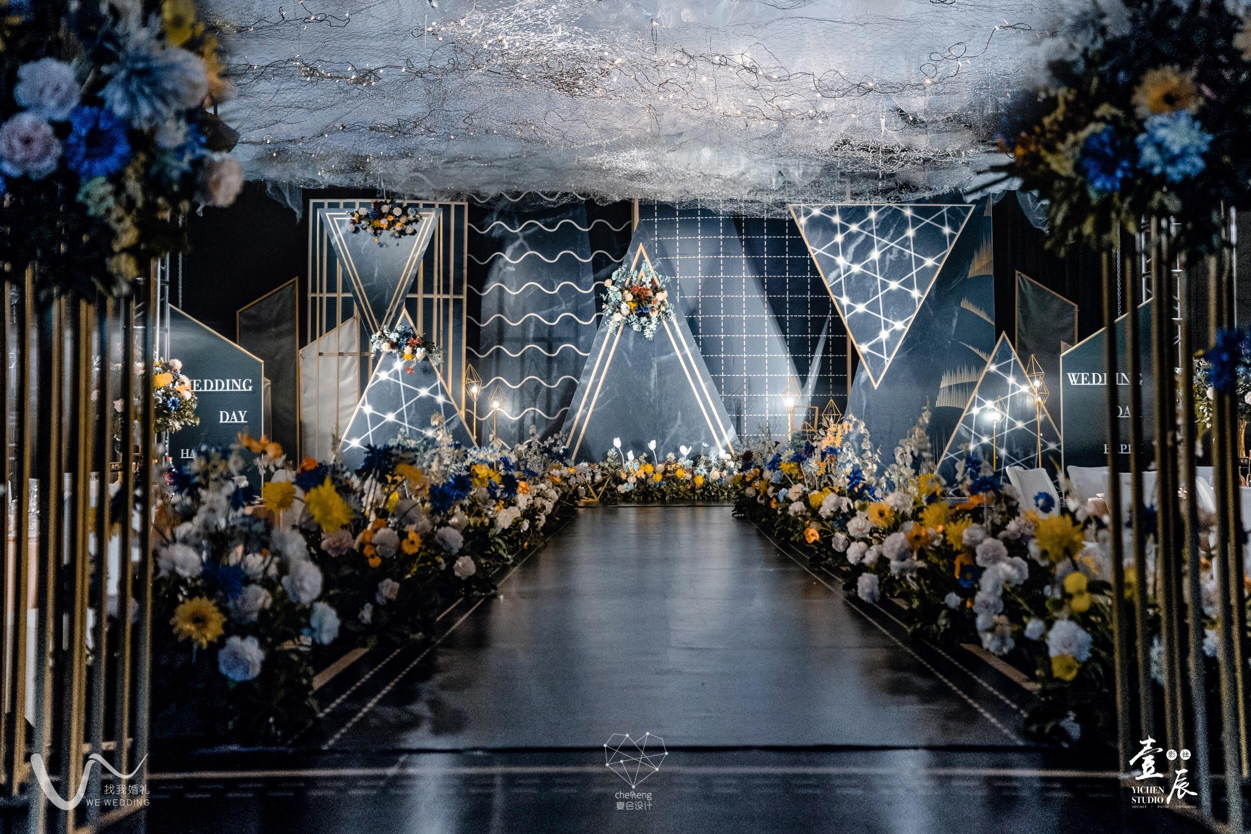 黑金几何婚礼图片