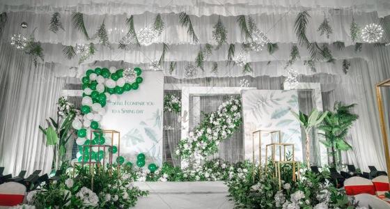 ins风白绿系-婚礼策划图片