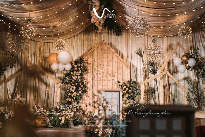 己度-白室内小清新婚礼照片