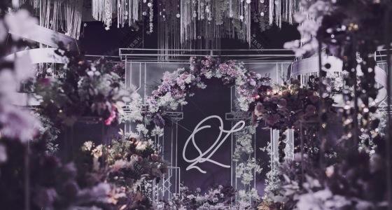一场关于紫色的婚礼梦-婚礼策划图片