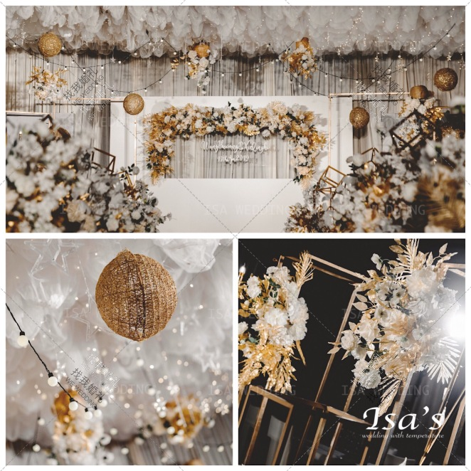 日月星辰-黄室内梦幻婚礼照片