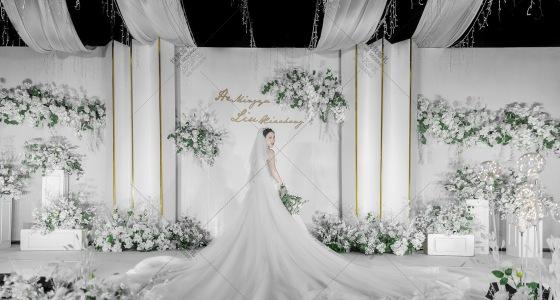 简洁风韩式婚礼-婚礼策划图片