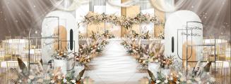 陪你度过漫长的岁月-橙黄室内小清新婚礼照片