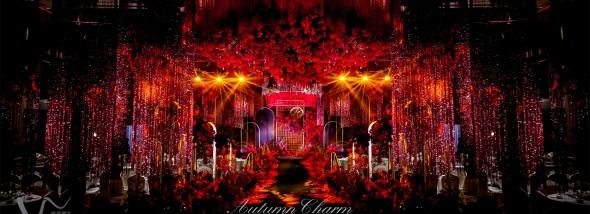 星辰航都国际酒店销售中心-勃艮第红婚礼图片