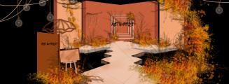 《画框里的秋色》-黄室内复古婚礼照片