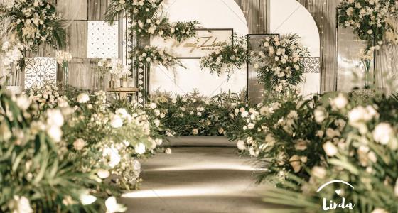 简约摩洛哥丨清新白绿-婚礼策划图片