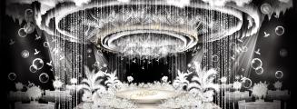 Pure&White-白室内梦幻婚礼照片