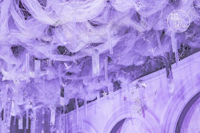 我的城堡-粉室内唯美婚礼照片