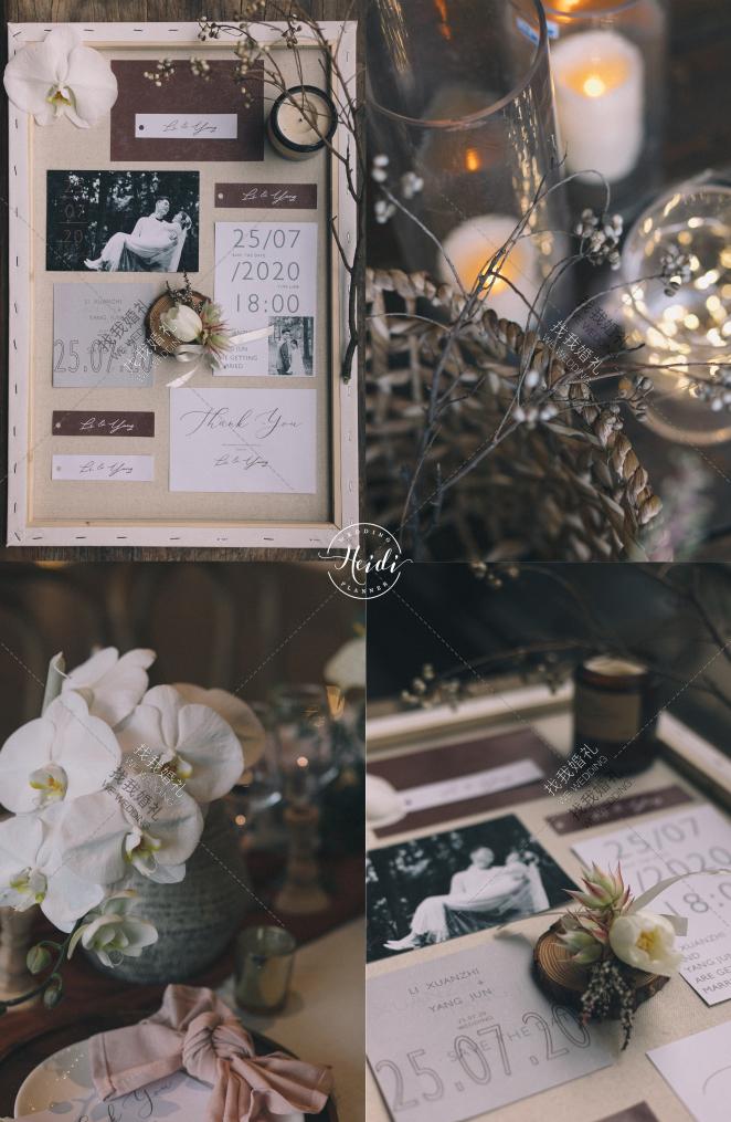 关于我们的晚宴-白室内小清新婚礼照片