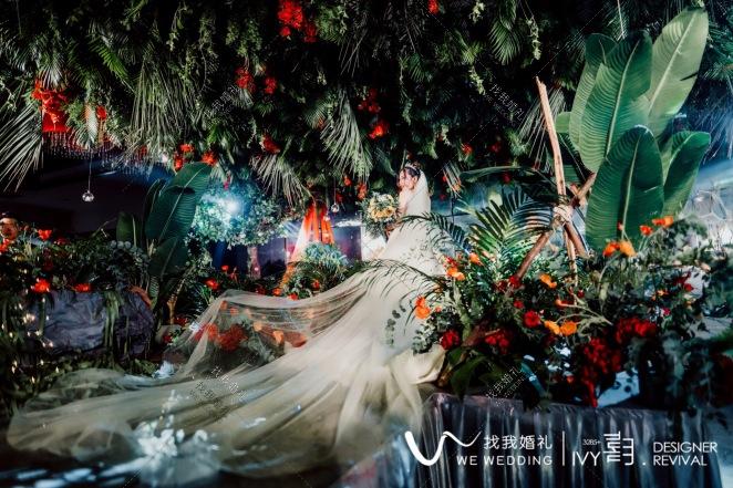 FIREFLY萤火-红室内梦幻婚礼照片