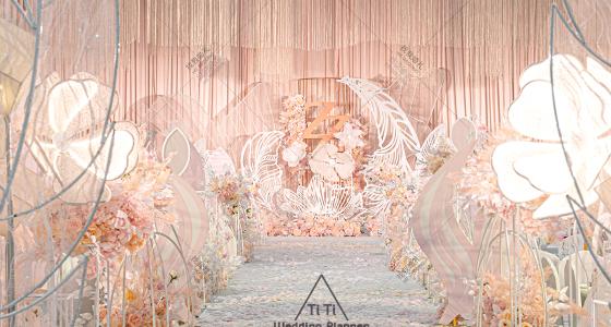 梦幻粉色婚礼-婚礼策划图片