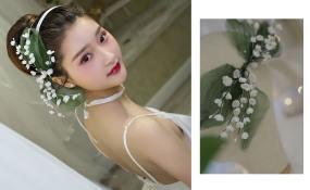 新娘试妆照夏天冰雪主题婚礼 案例图片