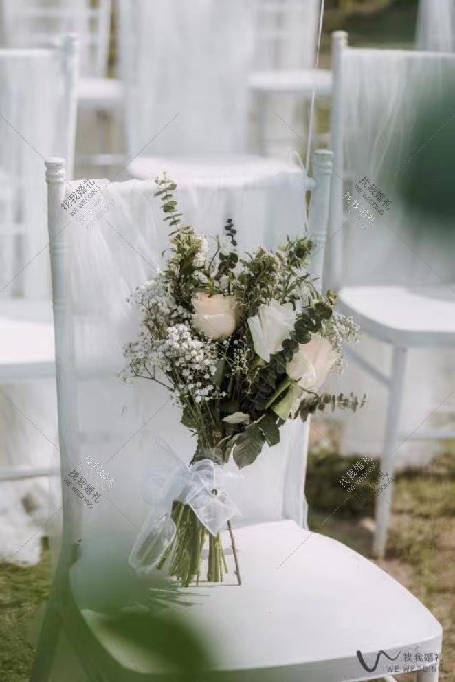 白色花园-白户外小清新婚礼照片