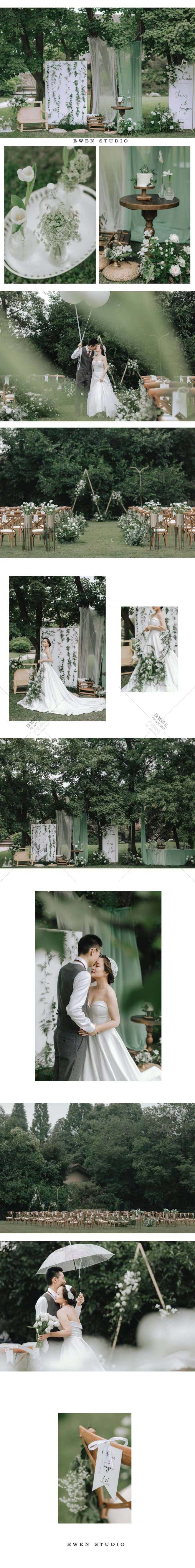 山哥和燕子的婚礼-白户外小清新婚礼照片