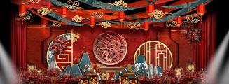 《琴瑟和鸣》-黄室内新中式婚礼照片
