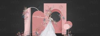 甜甜的你和我-粉室内韩式婚礼照片