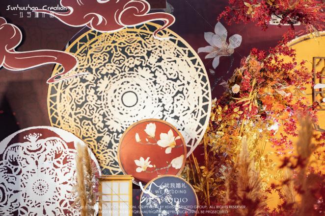 不凡的我和你-红室内新中式婚礼照片