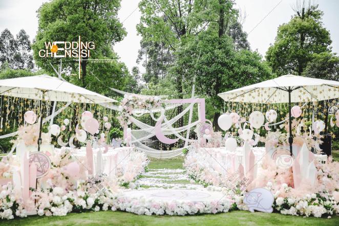 美少女主题-白草坪主题婚礼照片