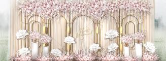 校园里的婚礼-粉户外梦幻婚礼照片
