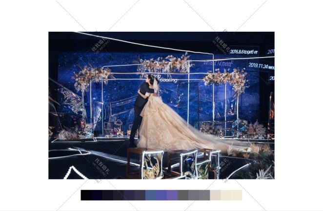 有你即为家-粉室内主题婚礼照片