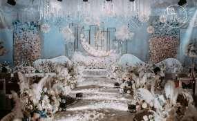 九大碗-淡蓝婚礼图片