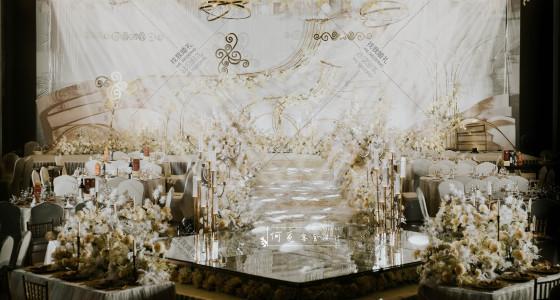 香槟色大气婚礼-婚礼策划图片