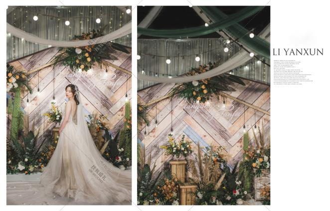 绿洲-白室内小清新婚礼照片