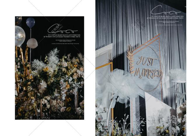 灰色ins风-白室内简洁婚礼照片