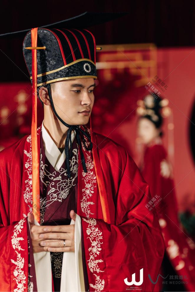 周制婚礼  —— 「结发为夫妻」-白室内传统中式婚礼照片