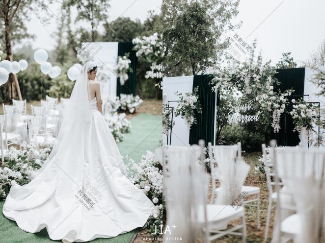 夏日有雨,余生有你-绿户外小清新婚礼照片